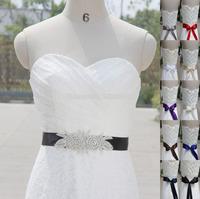 Special Handmade Belt Shining Rhinestone Beading Czech Stones Bridal Gown Sash Formal Wedding Evening Dresses Belt T142015