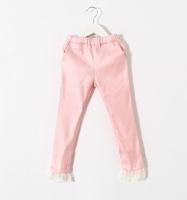 New Baby Girls Solid  Lace Hem Leggings , Princess Fashion Boutique Pencil Pants,  5 pieces/lot, Wholesale