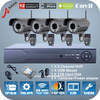 P2P 8CH NVR 2TB HDD 1080P 2.0MP Manual Zoom 2.8mm-12mm Wireless WIFI Camera 78 IR Night Vision Video Surveillance Security Kit