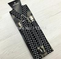 Free Shipping+Wholesale Dots Suspenders Adult Suspenders Clip-on Y-Back Braces Elastic Suspenders,200pcs/lot