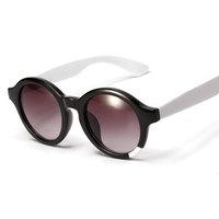 New Korean round Sunglasses frames vintage mirror blue silver sun lenses glasses metal decoration shades unisex UV400 Cheap