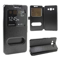Fashion View Window Stand Holder Design PU Flip Leather Case Cover For Samsung Galaxy A7 A700