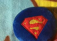 NEW ON- Kawaii Blue Superman 10CM Mini Plush Coin Purse & Wallet Pouch Case BAG ; Pendant Bags Pouch Makeup BAG Women Handbag