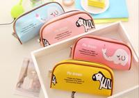 Sweet Animals Elephant Zebra 20*16CM PU School Kids Pen Pencil BAG Case GIFT BAG Women Handbag Coin Purse BAG & Wallet Pouch