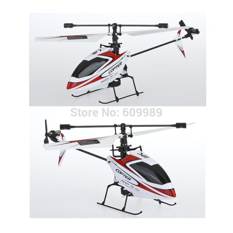 4CH 2.4GHz Mini Radio Single Propeller RC Helicopter Gyro V911 RTF RED&WHITE(China (Mainland))