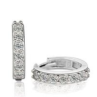 2014 NEW NEW 925 Sterling Silver Earrings Silver Stylish Jewelry Stud Earrings