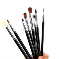 8pcs Pro Women Makeup Maquiagem Blend Angled Eyeliner Eyeshadow Smoked Brow Brushes Set #68912