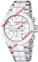 Fashion F16576/1 Fes 6576 Le Tour De France Chrono Bike White Dial White Ceramic Band Chronograph Men's Quartz Watch