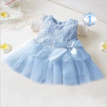 2015 toddler girl clothing baby girl dresses 2015 blue white pink baby dress(China (Mainland))