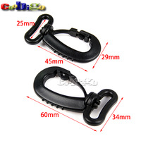"15pcs Pack 1"" Webbing Plastic Heavy Duty Swivel Snap Hook for Backpack Buckle Belt Strap #FLC422-25B"