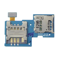 Free shipping SIM Card & Memory SD Card Slot Holders Flex Cable for Samsung Galaxy S2 II T989 i727