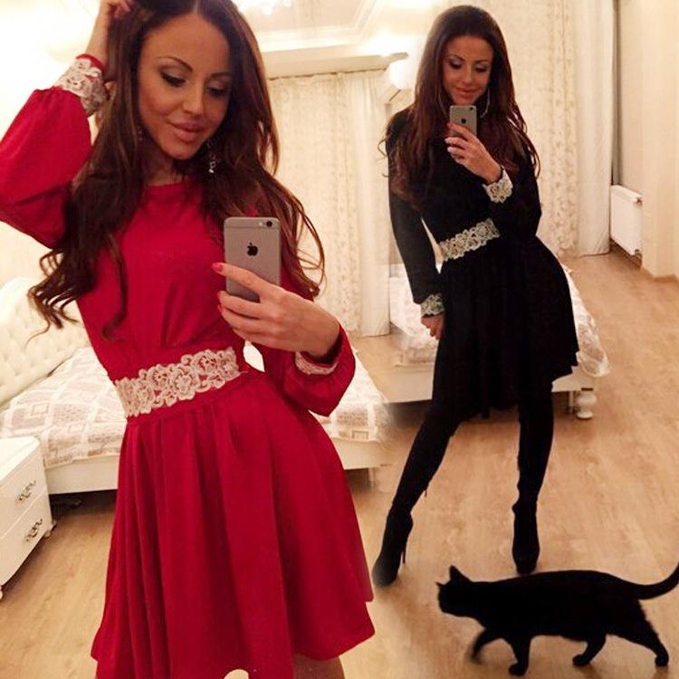 Женское платье Lantern Sleeve DRESS 2015 vestidos LJ621QAF женское платье red long dress a line lantern sleeve 2015 lyd0352