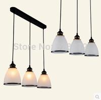 3 light pendant, simple European glass lampshade creative dining room chandelier fixtures