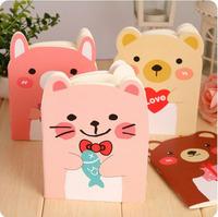 4pcs/lot Free Shipping / New Korean style cute bear Notebook/diary /Note pad Memo / A6 book