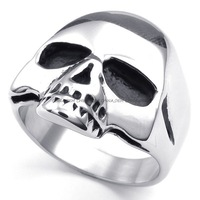 Jewelry Men's 316L Stainless Steel Titanium Party Gothic Skull Rock N' Roll Punk Ring M072738