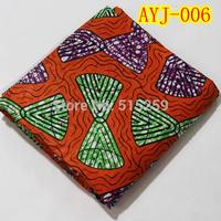 Veritable african real wax cotton fabric /Dutch batik fabric with rhinestone AYJ-006