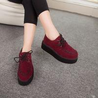 2015 Creepers women Shoes Women Harajuku Casual Vintage Shoes For Women Flats Shoes Creepers Shoes Sapatos Femininos035