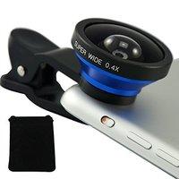 Wholesale Universal Detachable 0.4X Super Wide Angle Clip Mobile Phone Lens for Smartphone