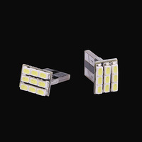 2x T10 1206 9SMD Xenon White LED Car Wedge Signal Light lamp bulb 194 168 W5W 147 auto interior Lights