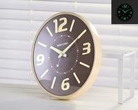 Glovion Creative Fluorescent Light Wall Clock Luminous Hanging Clock for Home Decor