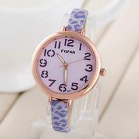 Fashion Dial 2015 style women's Elegant watch wristwatches quartz Leather strap watch assorted colors women dress watch FP0100