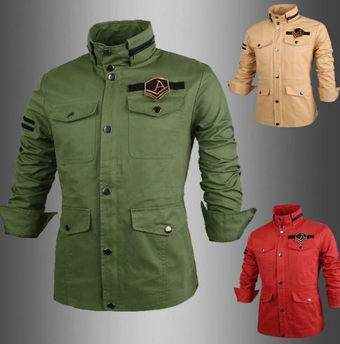 2015 Men's Jacket Men Print Coat Fashion Jacket Stand Collar Spring Winter Outwear Free Shipping(China (Mainland))
