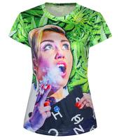 2015 Summer T shirt Printed O-Neck 3D T shirt Women Casual Blusas T-shirt Women Tops