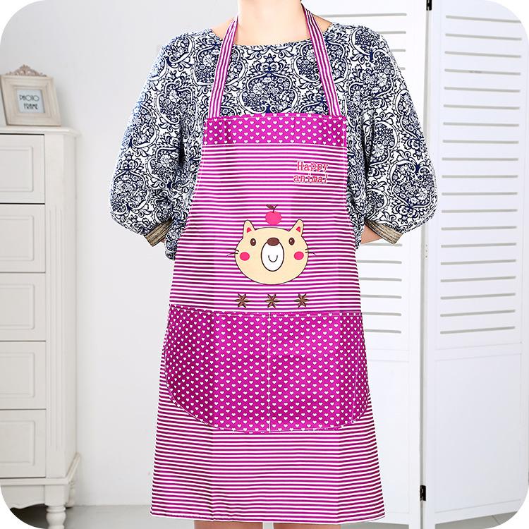 Bear aprons Polka Dot Korean fashion cute cartoon waterproof apron kitchen aprons housework anti-fouling aprons(China (Mainland))