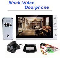 700tvl outdoor unit 9inch monitor color video doorphone intercom system