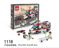 new Enlighten The Emergency Ambulance 328 Pcs ABS Plastic Building Blocks Learning&Education Toy Christmas Gift Compatible gift