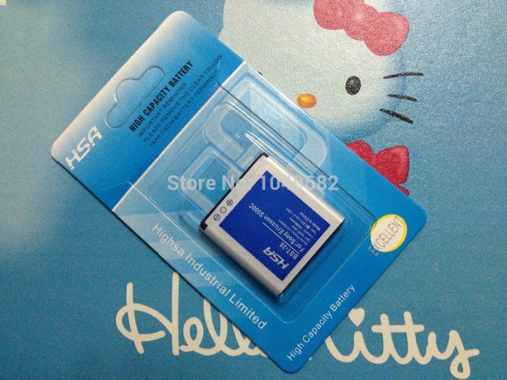 2400 mah batterie pour Sony Ericsson S500 batterie pour SE BST-38 K770 K858 K850 S302c S550 S500i W580 W707 W760(China (Mainland))