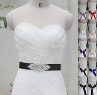 Retro Luxuriant Handmade Belt Crystal Rhinestone Pearl Czech Stones Bridal Gown Sash Formal Wedding Evening Dress Belt T32015