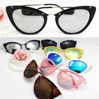 New high quality rivets cat eye Sunglasses metal brand MM women Italy Party Shades mirror sun lenses glasses UV400 sunnies