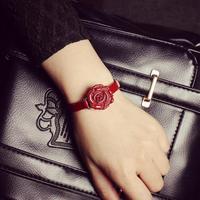 2015 New Fashion Rose Flower Watches Women Dress Watch stylish women casual watch QuartzWatches orologio da polso