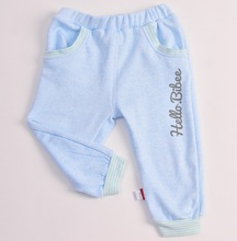 2014 spring and autumn child thickening warm pants ploughboys male female child legging elastic trousers infant trousers(China (Mainland))