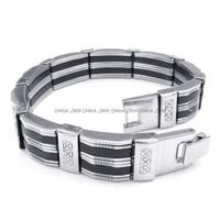 Jewelry Men's 316L Stainless Steel Titanium Antique Fashion Party Rock N' Roll Bracelet M072313