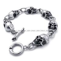 Jewelry Men's 316L Stainless Steel Titanium Party Fashion Rock N' Roll Biker Bracelet M074403
