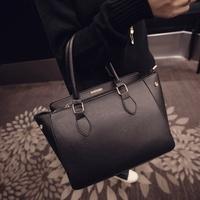 Winter bags 2015 women's fashion handbag brief handbag patchwork all-match shoulder bag messenger bag