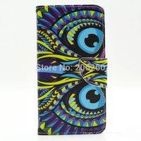 100pcs/lot Cartoon Animal Flower Owl Pattern Wallet Leather Flip Case For Samsung Galaxy Grand Prime G530 G530H Hot