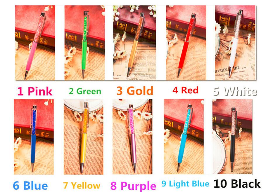 Big diamond on top Free shipping 1pcs/lot retail gift beautiful lady crystal ballpoint pen better than pencil case 3d parker pen(China (Mainland))
