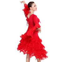 red black  Luxury Ballroom Dance Dress,Elegant Women Ballroom Perform Wear,Fashion Girls Ballroom Dance wear waltz  latin dress