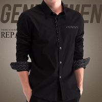 Turn-Down Collar Big Size 4xl 5xl Casual-Shirt Men'S Clothing Camiseta Masculina 2014 Kaporal Polka Dot Dress Long Sleeve