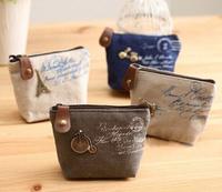 4Models Retro Paris 10*8CM Canvas Lady Girl's HAND Coin Purse & Wallet Pouch Case BAG Women Bags Pouch Makeup Holder BAG Handbag