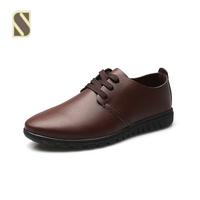 Brand Men Summer Leather Shoes Lace Up Men's Flats Shoes Low Men Sneakers For Men Oxford Shoes