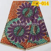 Hign quality Holland wax fabric fashion African design wax with stone 6 yards per piece  AYJ-014