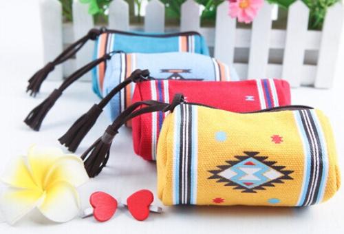 Сладкий 4 цветов ствола форма 10 * 7 см леди девушки портмоне и кошелек сумка женщин сумки мешок макияж держатель сумка сумка