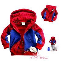 Spring and autumn Boys clothing cotton kids spiderman coat boys jacket cartoon kids outwear children fashion hoody