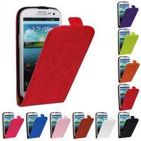 1 Piece Crazy Horse Genuine Leather Flip Case For Samsung I93001I Galaxy S3 Neo SIII Neo+ i9300i SIII Duos+ Free Screen Film