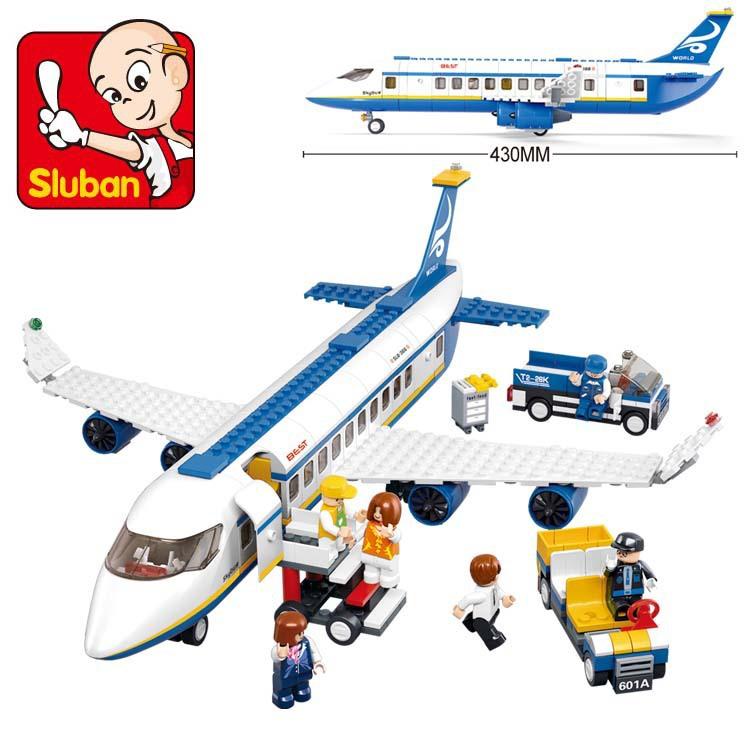 Free shipping sluban 483pcs air plane passenger airport building block bricks boy toy compatible with lego NO ORIGINAL PACKING(China (Mainland))