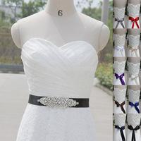 Dazzling Handmade Belt Shining Crystal Rhinestone Czech Stones Bridal Gown Sash Formal Wedding Evening Dress Belt T42015